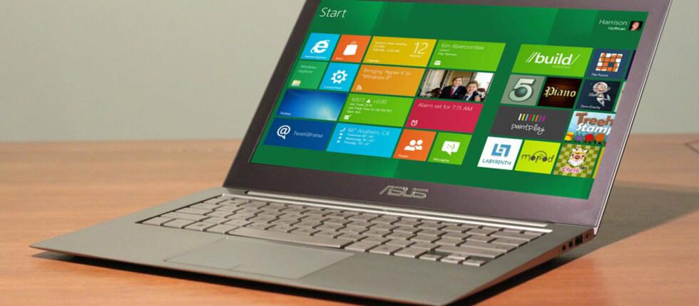 Har du Windows XP, Vista eller 7 vil oppgraderingen til Windows 8 pro bare koste 40 dollar. Foto: Asus /DinSide (manipulasjon)