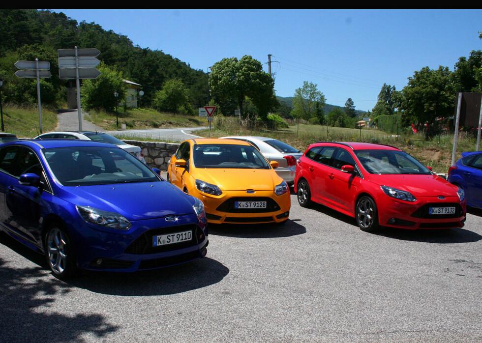 Farger er viktige for Ford når en ny sporty Focus lanseres. Kjedelig? Nei! Foto: Knut Moberg