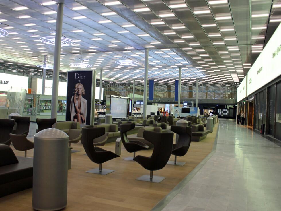 Lounge-området til shoppingavdelingen «Place de Paris». Foto: Silje Ulveseth