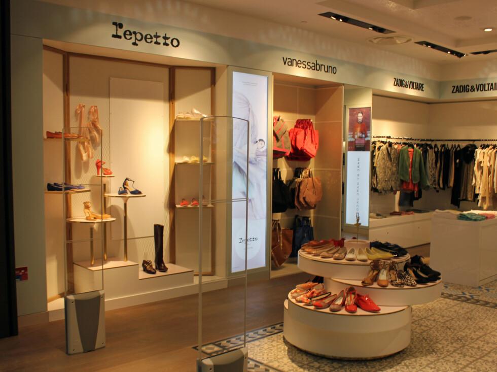 Butikk med franske kjente merker. Foto: Silje Ulveseth