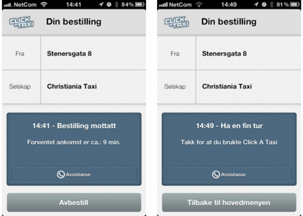 image: Click a taxi –taxiapp for iPhone