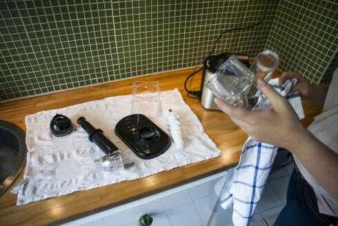 Lett å rengjøre og lett å montere. Men de løse plastdelene virker noe ... billige.  Foto: Per Ervland