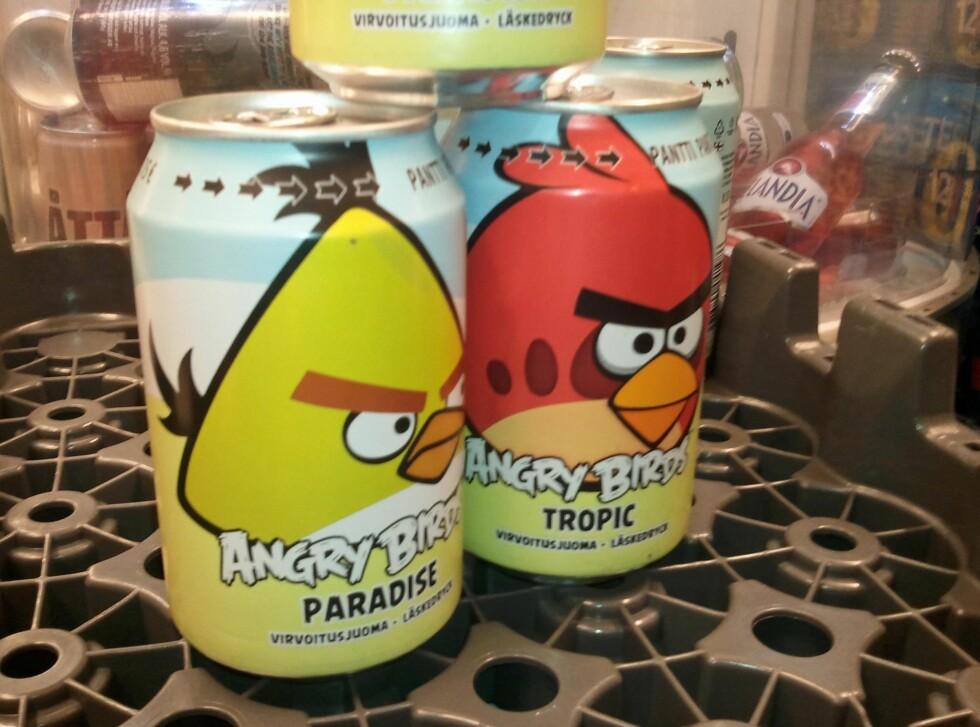Angry Birds er det nye store som kommmer fra Finland, her i brus-variant.           Foto: Berit B. Njarga