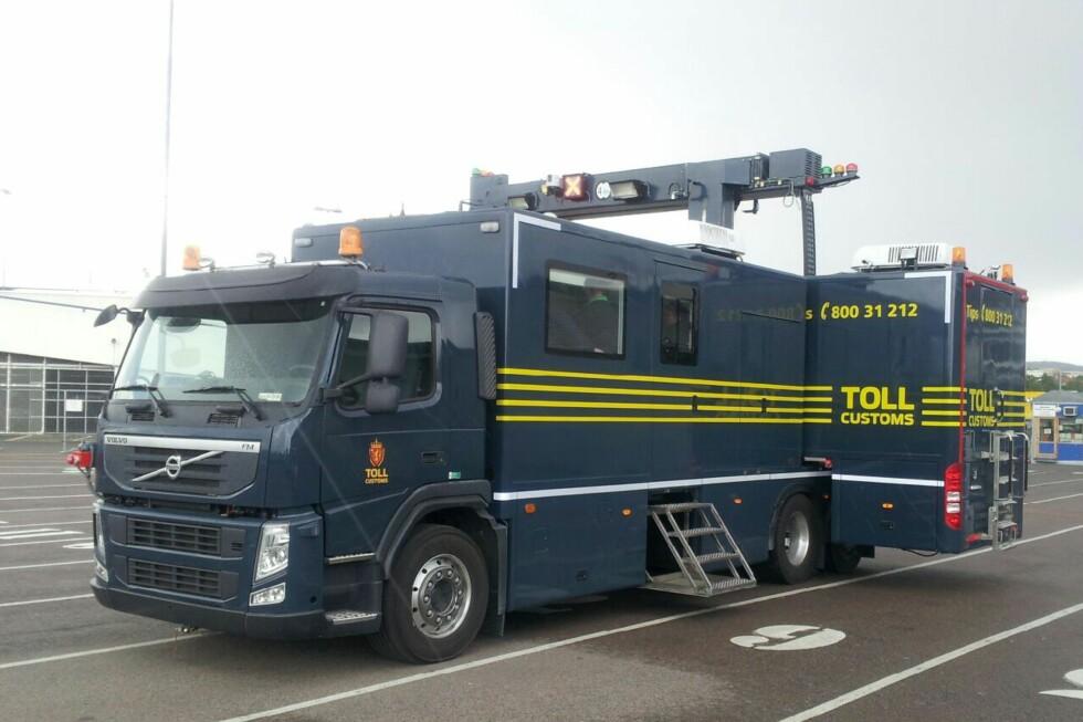 Den veier 26 tonn og kan skanne et vogntog på to minutter. Foto: Tollvesenet