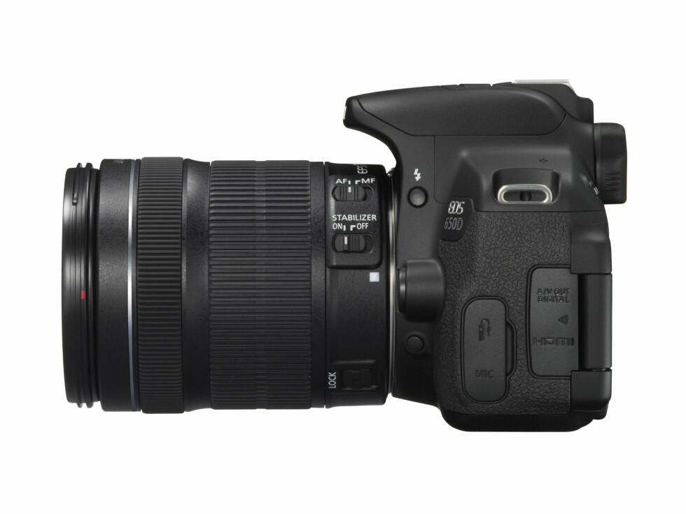 EOS 650D med EF-S 18-135mm Foto: Produsent
