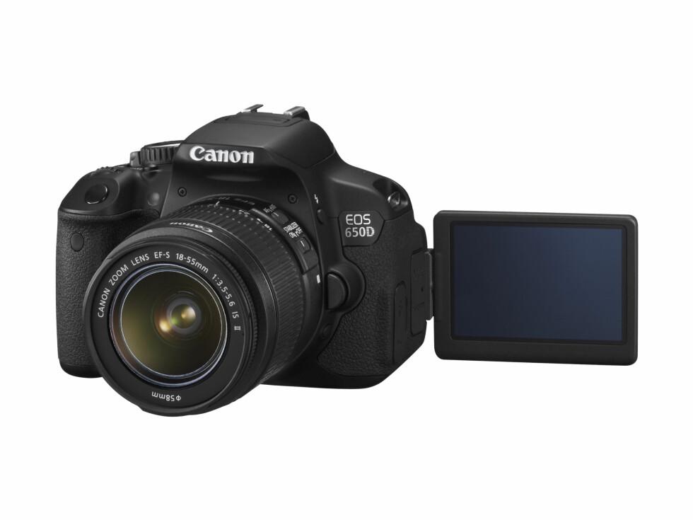 EOS 650D med EF-S 18-55mm Foto: Produsent