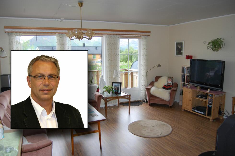 ÆRLIG: Vis frem boligen slik den fremstår, er rådet fra Odd Lennart Willassen i Eie Eiendomsmegling Vesterålen. Foto: Eie Eiendomsmegling/DinSide