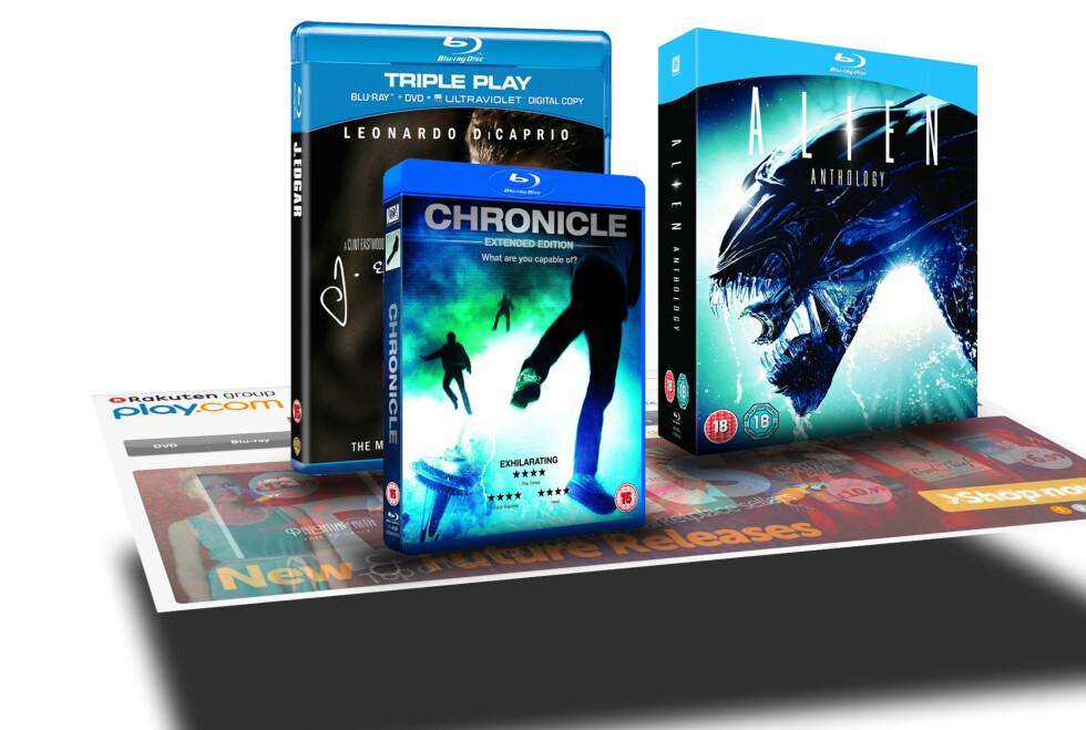 FLERE FILMER I ETT: Play.com kan nå bli mye dyrere hvis du bestiller flere filmer samtidig. Foto: Øivind Idsø