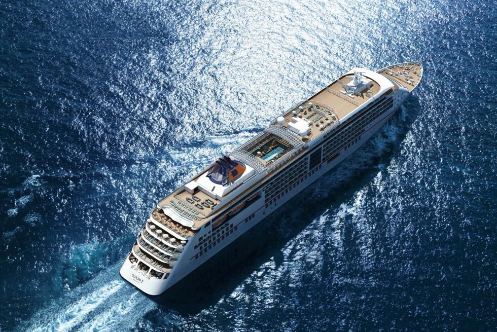 MS Europa 2 skal overgå sitt prislønnede søsterskip. Foto: Hapag-Lloyd Cruises