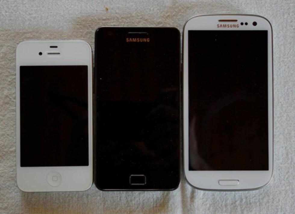 Såååå stor: Synes du Samsung Galaxy S II var stor, har treeren enda litt større fotavtrykk.