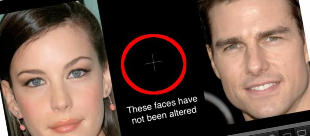 Ved å fokusere på krysset samtidig som ansiktene byttes ut, fører til uventede resultater. Videoen under beviser dette.
