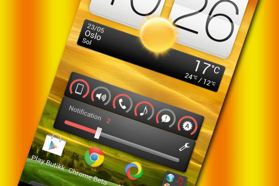 Med Slider widget kan du justere de ulike Android-volumene direkte fra hjemmeskjermen.