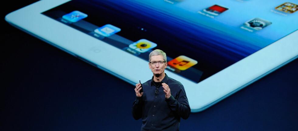 Apple-sjef Tim Cook viste frem den nye iPaden tidligere i år. Snart er tiden inne for å presentere iOS 6. Foto: All Over Press