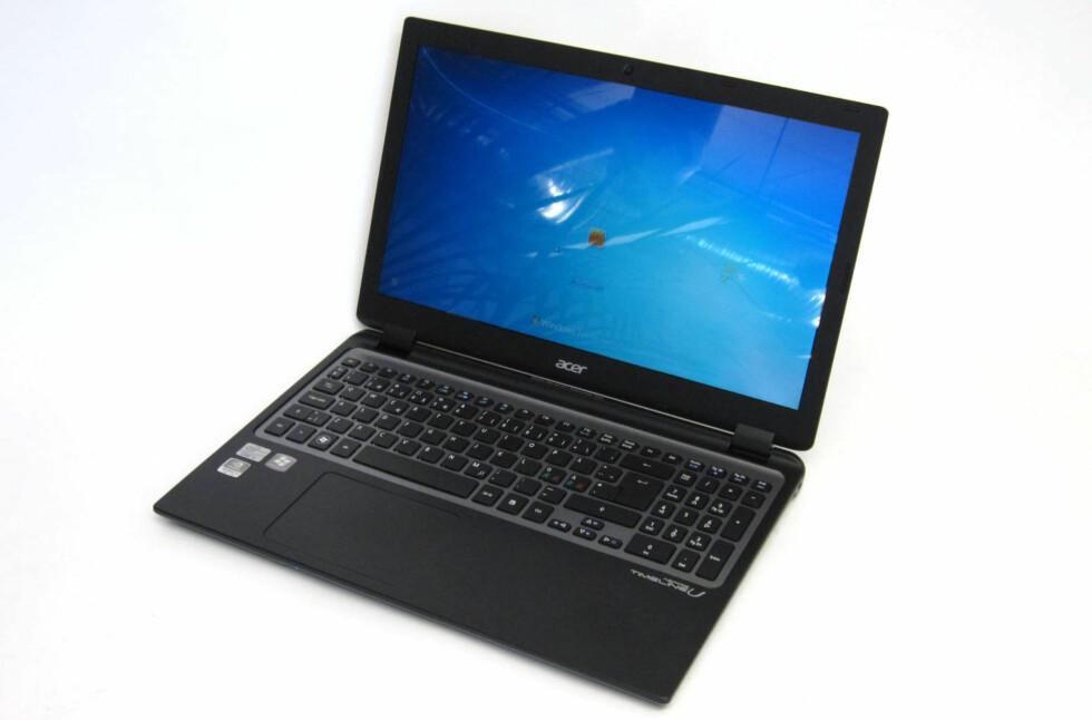 Acer Aspire Timeline U M3 er det hele og fulle navnet på denne slanke modellen, som produsenten har valgt å kalle for Ultrabook. Foto: Alle bilder: Bjørn Eirik Loftås