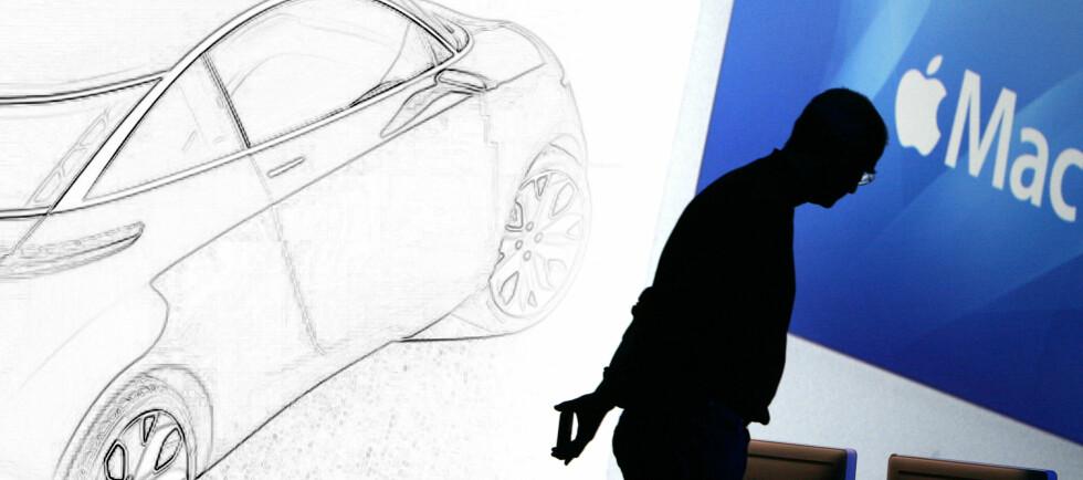 (Illustrasjon: Per Ervland) Mickey Drexler avslører at Steve Jobs hadde planer om en iCar. Er planene lagt på is?