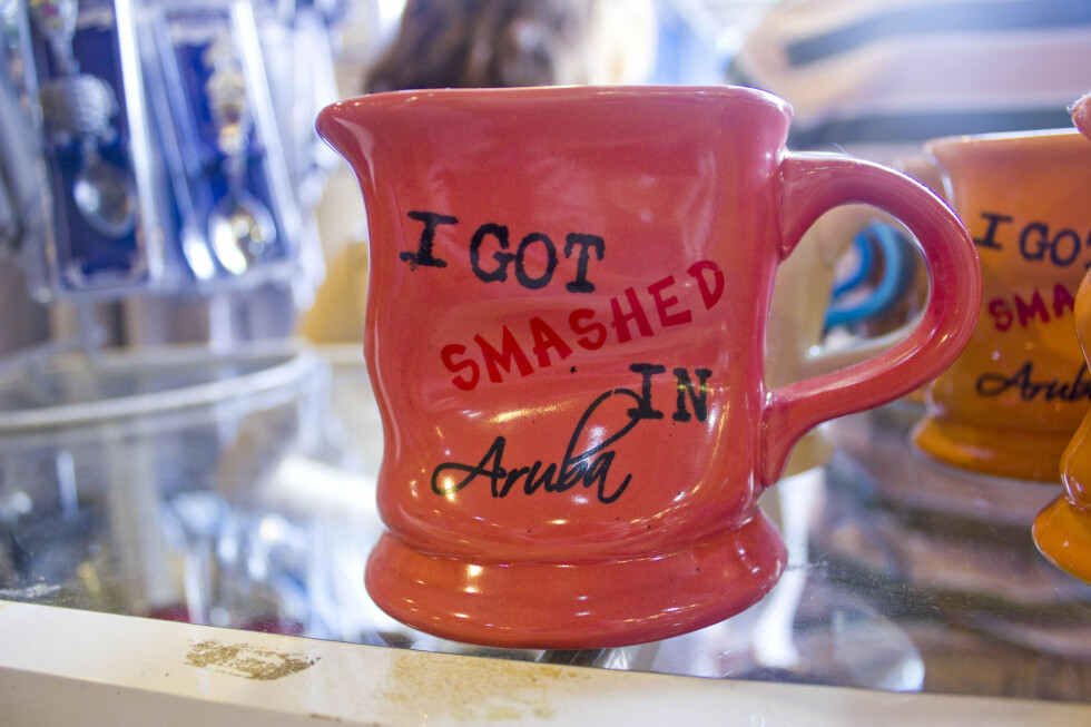 "Mugge nummer 2: ""I got smashed in Aruba"".  Foto: Silje Ulveseth"