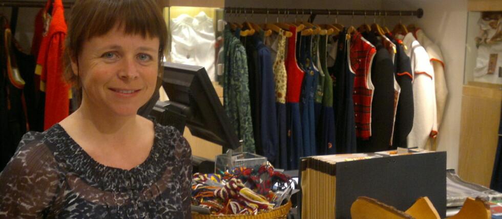 Cecilie Eskild er informasjonsansvarlig for bunad i Heimen Husflid, og gir råd om hvordan du skal stelle bunaden din. Foto: Privat