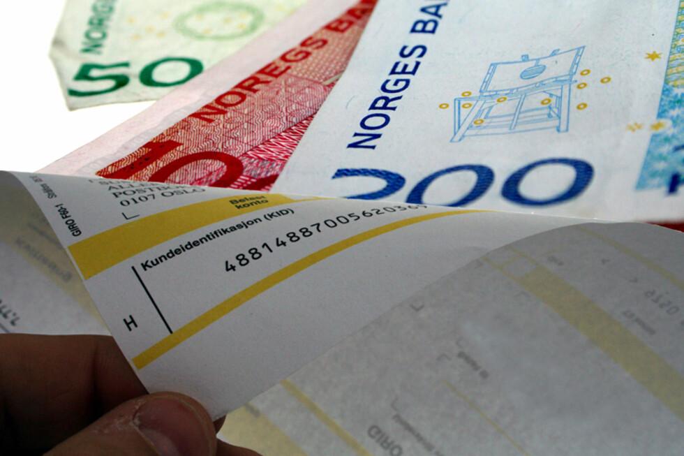 Får du regninger fra staten, må disse betales innen betalingsfristen om du vil unngå høye tilleggsavgifter. Foto: KIM JANSSON/OLE PETTER B. STOKKE
