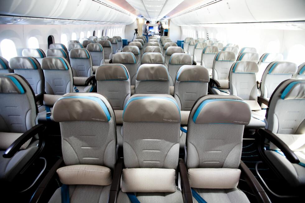 Dreamliner har plass til mange passasjerer. Foto: Per Ervland