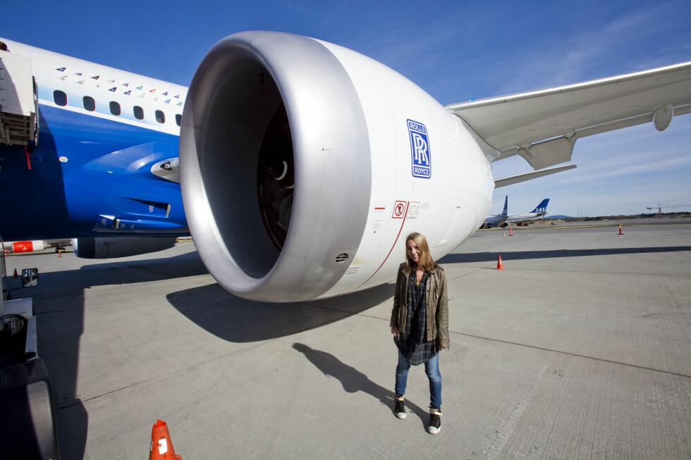 Ganske stor jetmotor.  Foto: Per Ervland