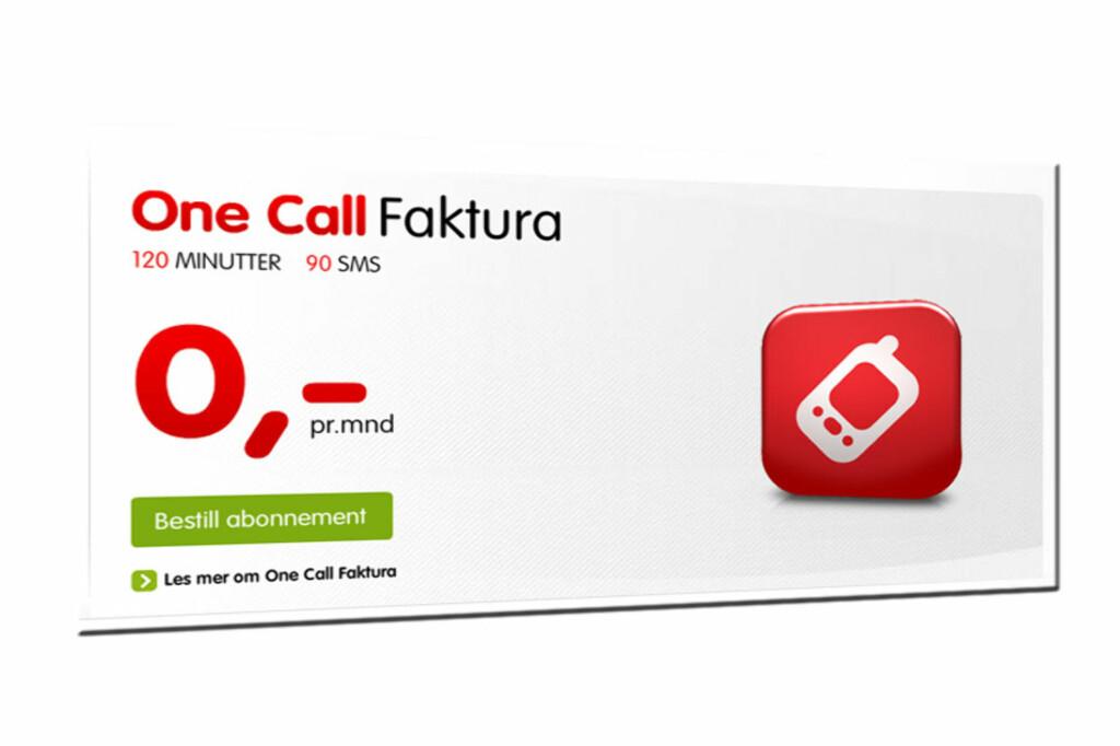Fortsatt er abonnementet Fakutra fra OneCall gratis. Men fra 1. juni vil det koste 49 kroner per måned.