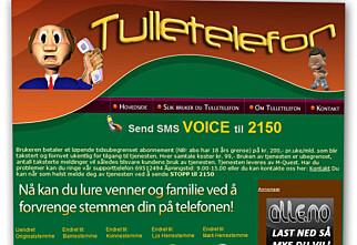 Tulletelefon.no sendte 11.000 SMS-er