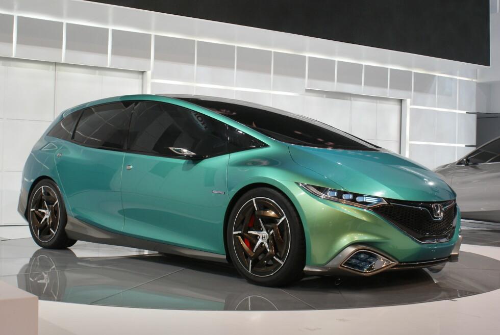 Honda Concept S: I Beijing viser Honda hvilken retning de ser for seg fremover når det gjelder designspråk. Dette er familiefrakteren som skal lanseres neste år - og Kina får æren av å være først ut blant markedene. Foto: Newspress