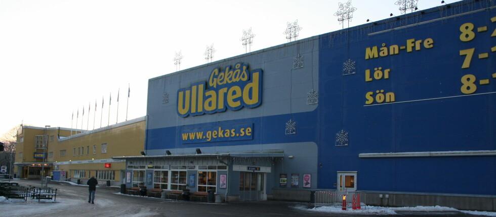 MED BUSS TIL GEKÅS ULLARED? Swebus starter ny bussrute til Ullared. Enn så lenge må nordmenn bytte i Göteborg. Foto: Kristin Sørdal