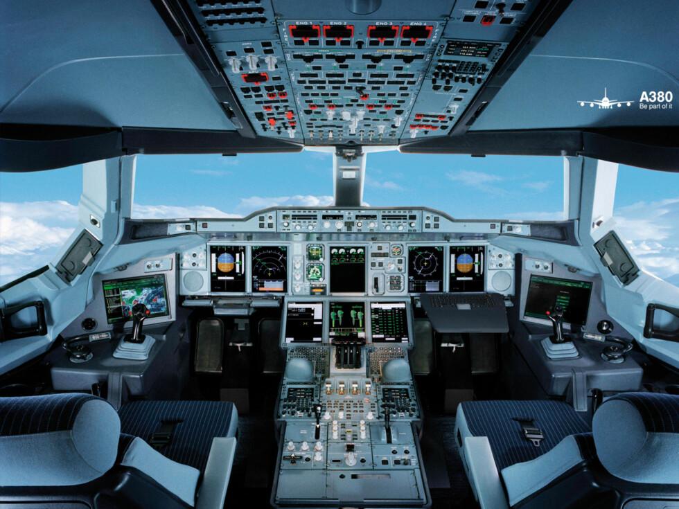 Slik ser cockpit ut på Lufthansas nye stolthet. Foto: Lufthansa