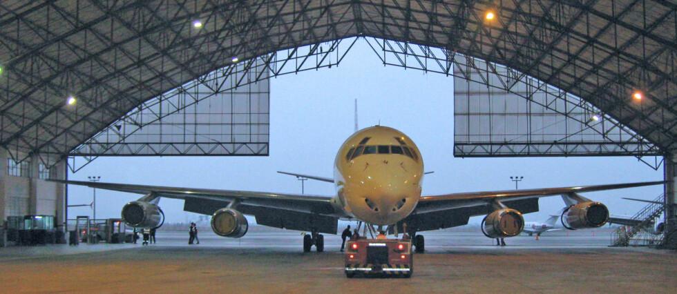 FÅR IKKE FLY I EU: Meridian Airways fra Ghana er ett av de mange hunde flyselskapene som er svartelistet og ikke får fly i europeisk luftrom.  Foto: Meridian