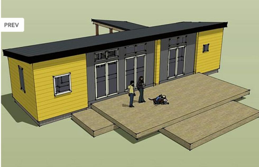 Ikea ferdighus, som utviklet for det amerikanske markedet i samarbeide med IdeaBox. Foto: IdeaBox/Ikea