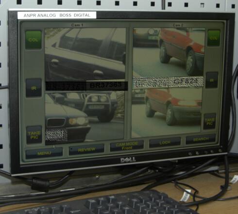 Kameraer leser registreringsnumrene til alle som kjører forbi og sammenligner disse med en liste over kjøretøy som er begjært avregistert i motorvognregisteret. Foto: Mars S. Berger/Statens Vegvesen