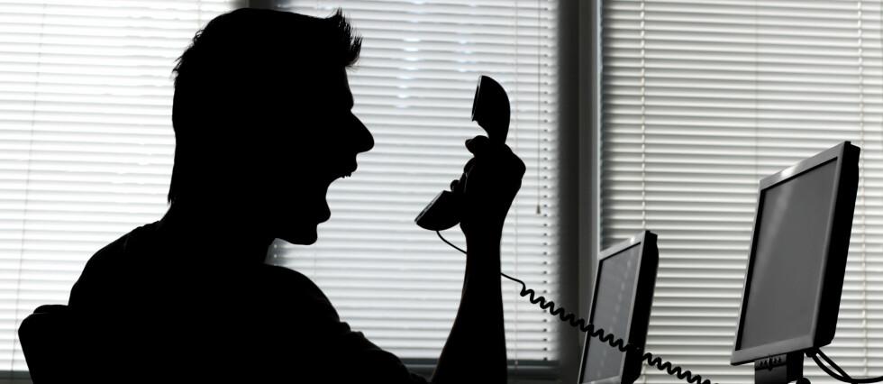 FÅ HJELP: Er du lei av å rope i telefonen? Da bør du vurdere å koble en klagenemnd inn i saken. De kan hjelpe deg.  Foto: COLOURBOX