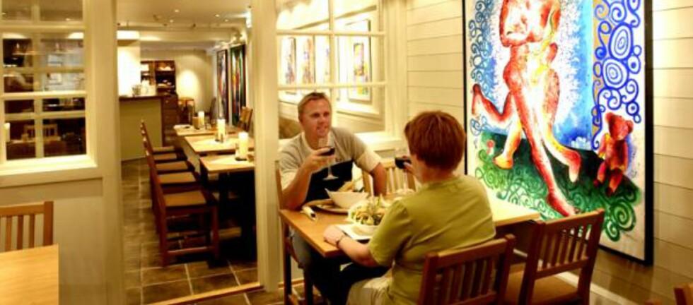 BESTE SPISESTEDER LANGS VEIEN: Sofias Café og Bar på Bardøla Høyfjellshotell på Geilo er rutevinner i DHL-guiden for strekningen Oslo-Bergen via RV7. Foto: Bardøla Høyfjellshotell
