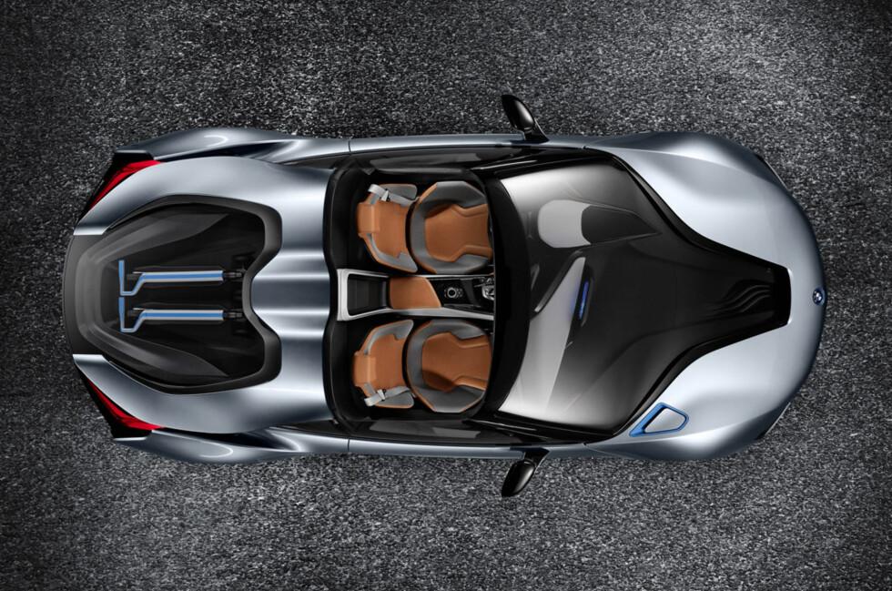 En vakker dag kan du helt sikkert kjøpe i8 Spyder. I dag er den bare en konseptbil.