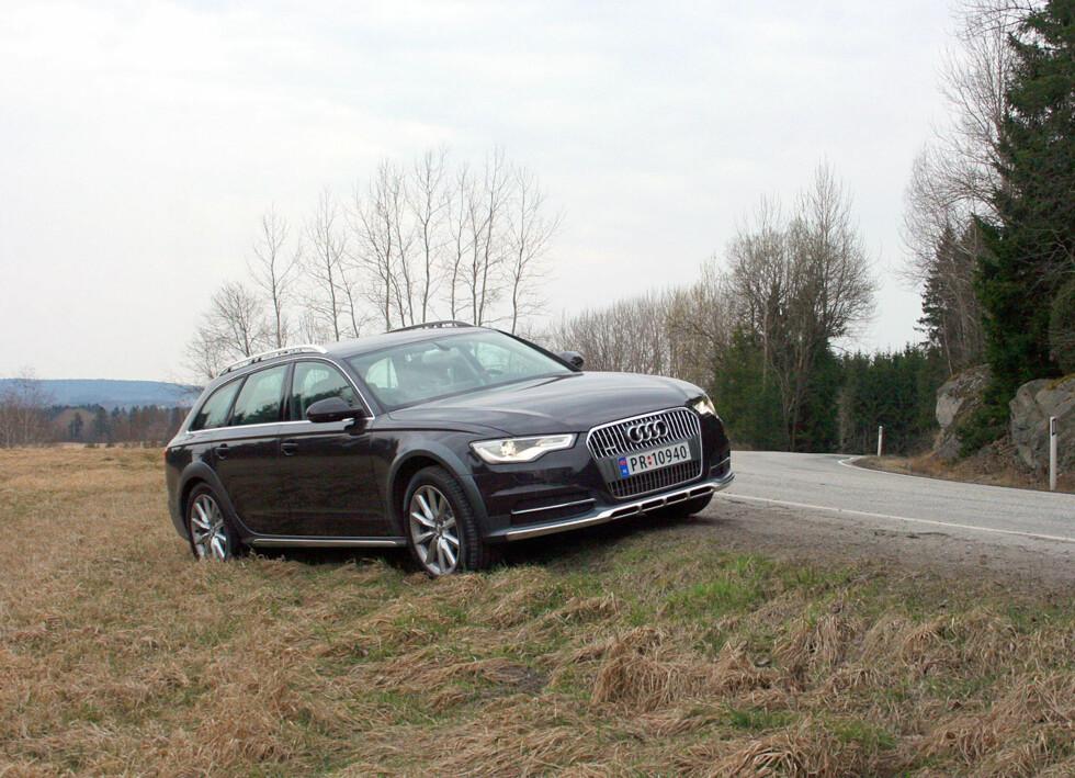 OK, Audi A6 allroad quattro er ikke noen terrengbil, men med justerbar bakkeklaring opptil 21,3 centimeter og quattro firehjulsdrift er fremkommeligheten upåklagelig. Foto: Knut Moberg