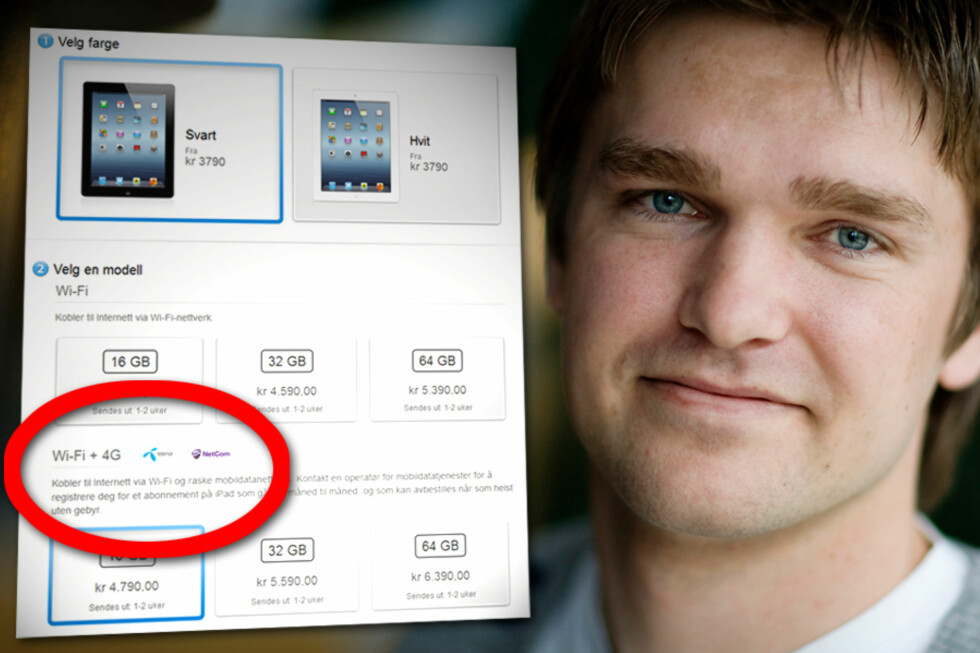 ULOVLIG: Fagdirektør Petter Ravne Bugten i Forbrukerombudet mener det er ulovlig å markedsføre iPad 3 som et 4G-nettbrett, slik det gjøres på Apples nettsider.  Foto: Ole Petter Baugerød Stokke/Forbrukerombudet