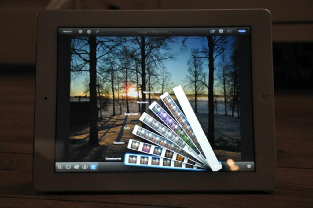 iPhoto er en fryd å bruke på iPad.