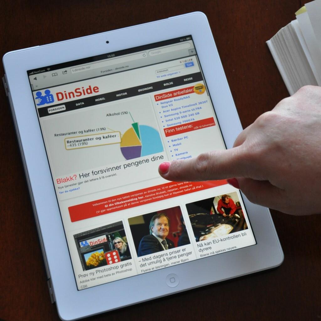 Nettsurfing og nettsøk er sannsynligvis det viktigste vi bruker nettbrettet til. Foto: DinSIde