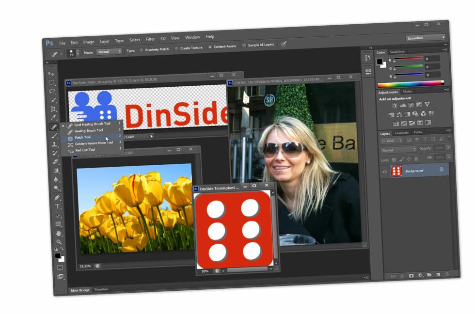 Den nye Photoshop-versjonen har arvet det mørke grensesnittet fra andre, nyere Adobe-produkter.