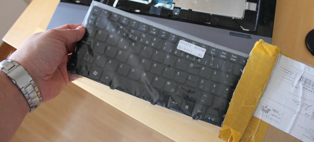 Nytt tastatur fra Hong Kong. Foto: Bjørn Eirik Loftås