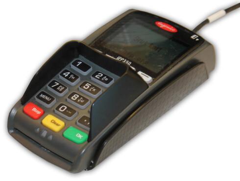 IKKE VANSKELIG: Slik ser en NFC-kompatibel kortautomat ut. De trenger ikke stå for en stor utgift. Men bruken kan bli dyrt, spesielt for et stort konsern som NorgesGruppen.  Foto: Ole Petter Baugerød Stokke