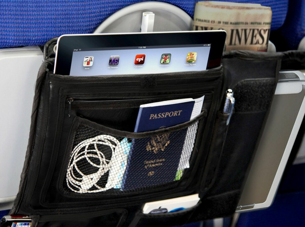 I vesken kan du oppbevare nødvendige småting som pass, reisedokumenter, ladere, businesskort, laptop og nettbrett. Foto: Produsenten/cabeautravel.com