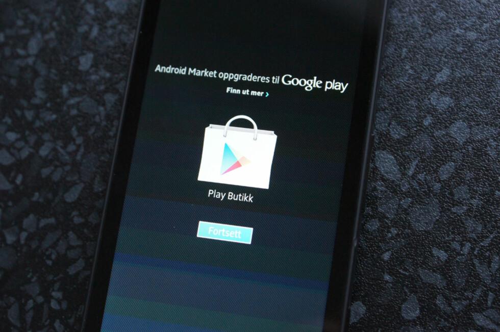 Det er enkelt å få Google Play allerede nå. Foto: Thomas Marynowski