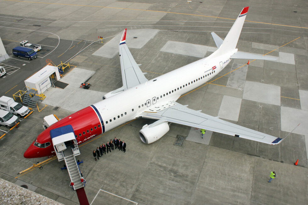 <strong><b>HELT NY:</strong></b> Etter 9 timer og 20 minutter var det nye Norwegian-flyet vel fremme i Oslo.  Foto: SILJE ULVESETH