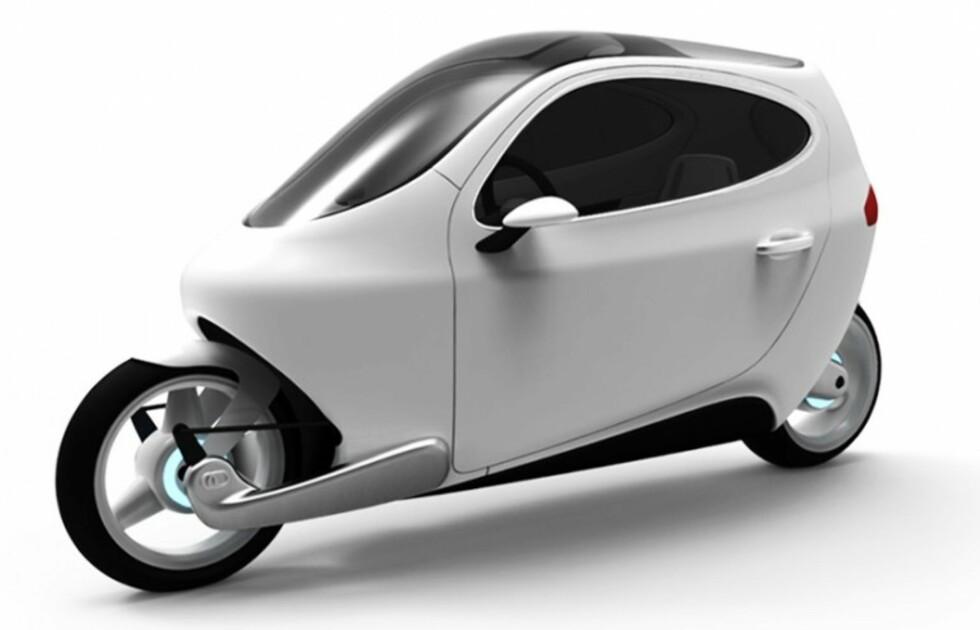 Snerten, stilig og elektrisk. Ifølge Lit Motors har de benyttet seg av skandinaviske designprinsipper - hva de nå måtte mene med det. Foto: Lit Motors