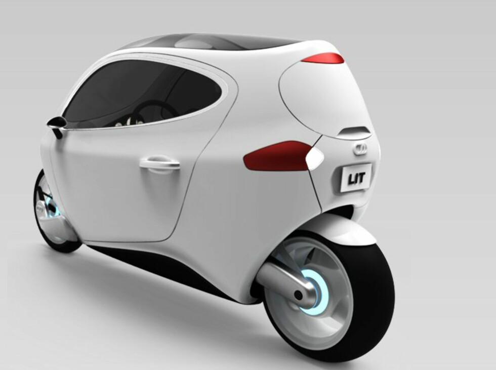 Lit Motors håper den ruller ut på veiene i løpet av 2014. Foto: Lit Motors