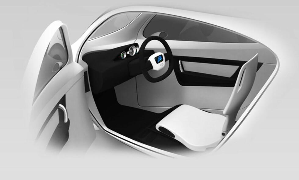 Et dashbord og bilratt sørger for styring. Foto: Lit Motors