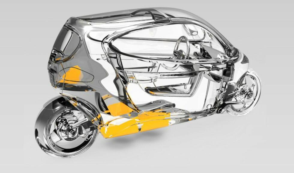 Den elektriske motoren gjør C-1 til et stillegående kjøretøy. Foto: Lit Motors