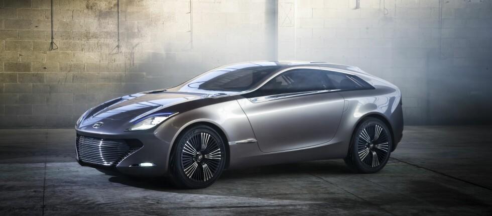 Hyundai skal snart vise frem en ny coupé i Genève - konseptbilen i-Oniq.  Foto: Produsenten